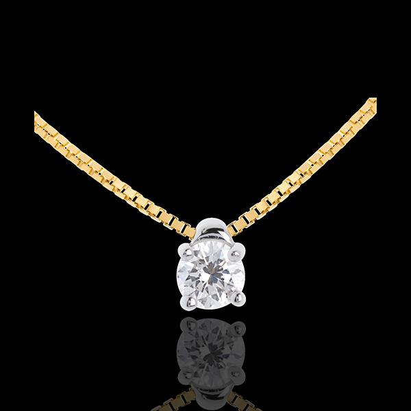 Diamanten Collier Solitär in Gelbgold - 0.21 Karat
