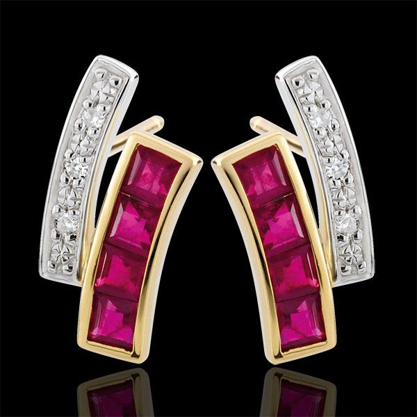 Diamond and Ruby Kiona Earrings