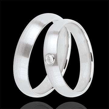 Duo d'alliances Idéal 1 diamant