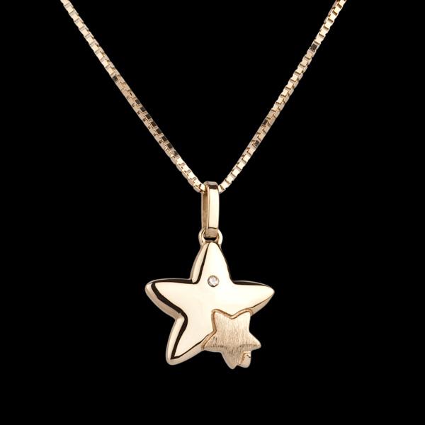 Dúo Estrellas - gran modelo - oro amarillo 9 quilates