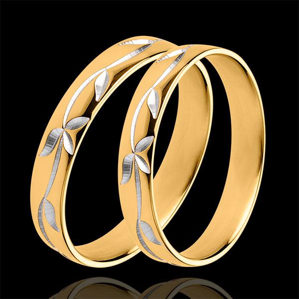 Duo trouwringen Frisheid - geel goud - 18 karaats