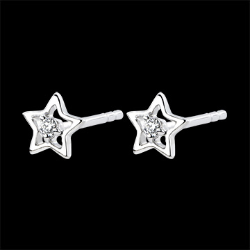 Earrings Abundance - My star - white gold 18 carats and diamonds