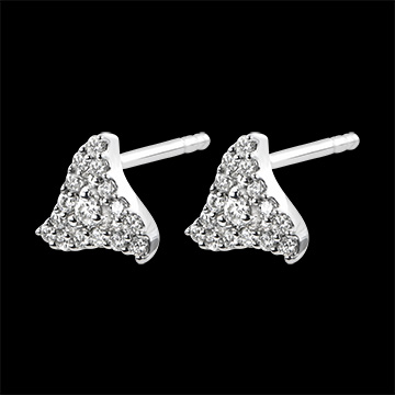 Earrings Abundance - Zenith - white gold 9 carats and diamonds