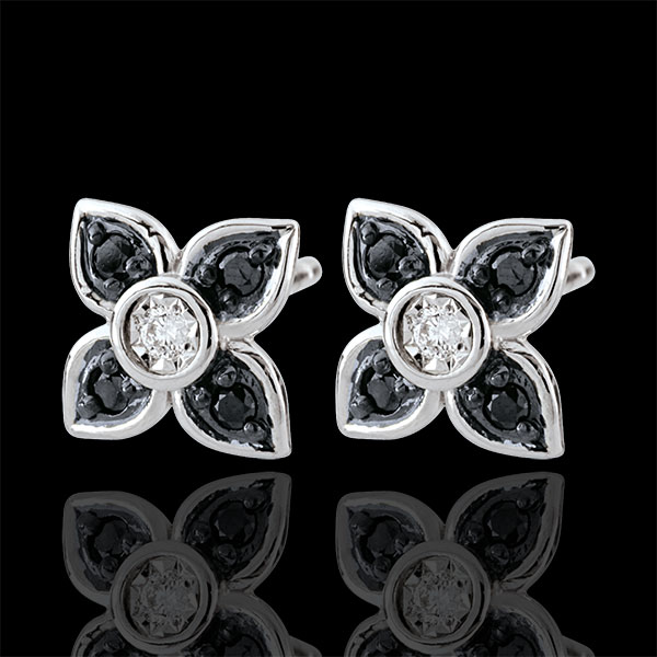 Earrings Clair Obscure - Black Lily - black diamonds