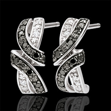 Earrings Clair Obscure - Rendez-vous - black diamonds - 18 carat