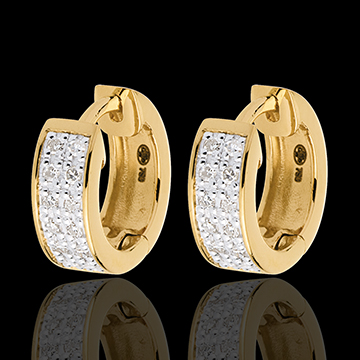 Earrings Constellation - Astral variation - small size - yellow gold - 0.12 carat - 24 diamonds