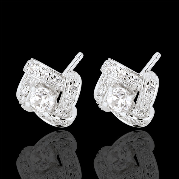Earrings Destiny - Persian Princess - white gold and diamonds