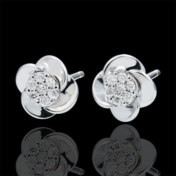 Earrings Eclosion - Rose Petals - 18 carat