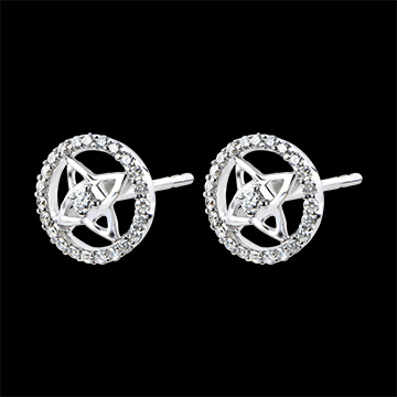 Earrings Freshness - white gold 18 carats and diamonds