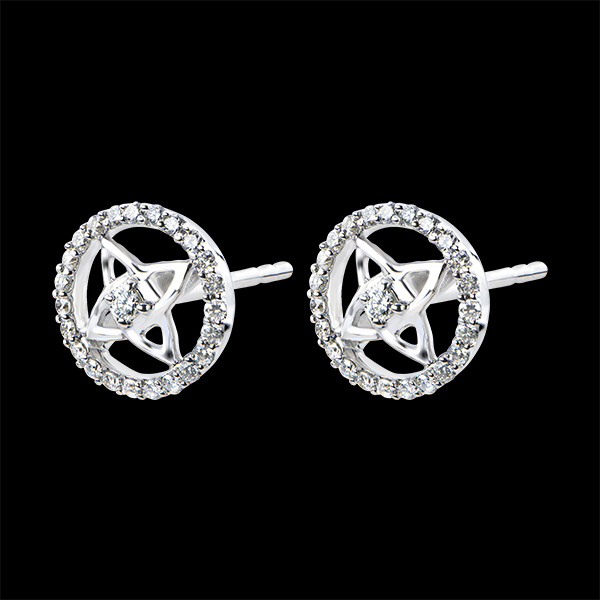 Earrings Freshness - white gold 9 carats and diamonds