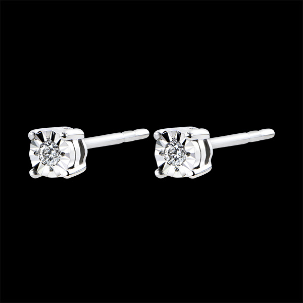 Earrings Origin - white gold 9 carats and diamonds
