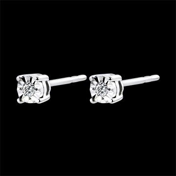 Earrings Origin - white gold 9 carats and diamonds