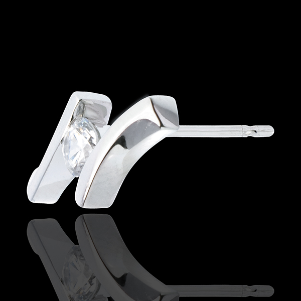 Earrings Precious Nest - Apostrophe (TGM) - white gold - 0.31 carat - 18 carats