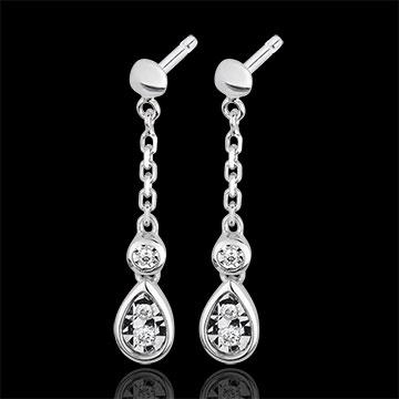 White Gold and Diamond Josephine Earrings