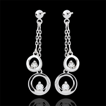 White Gold Odalie Earrings - 18 carats