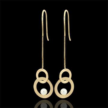 Mother-of-pearl Perch Earrings - pearls
