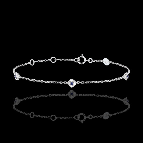 Eclosion Bracelet - Roses Crown - sapphires - 9 carat white gold