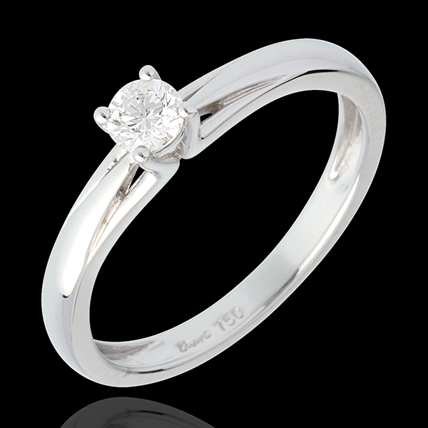 Edelweiss Solitaire Ring - White gold - 0.21 carat
