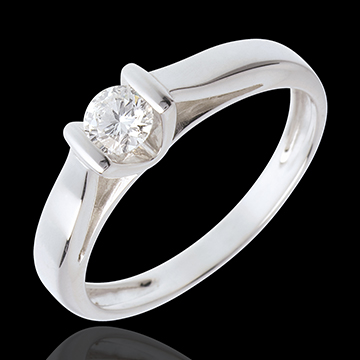 Elegance Solitaire ring white gold - 0.24 carat