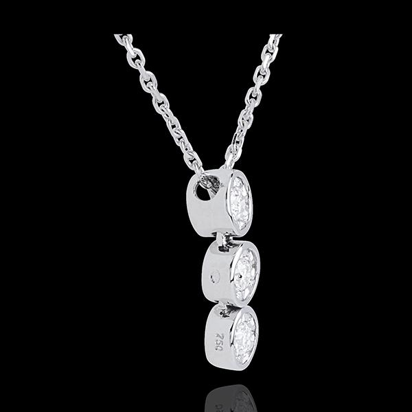 Encased diamond trilogy necklace - 3 diamonds