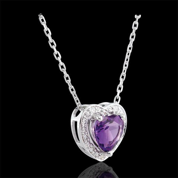 Enchanting Amethyst Heart Necklace - 18 carats