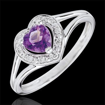 Enchanting Amethyst Heart Ring
