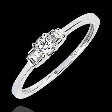 Engagement Ring Abundance - Jayne - white gold 18 carats and diamonds