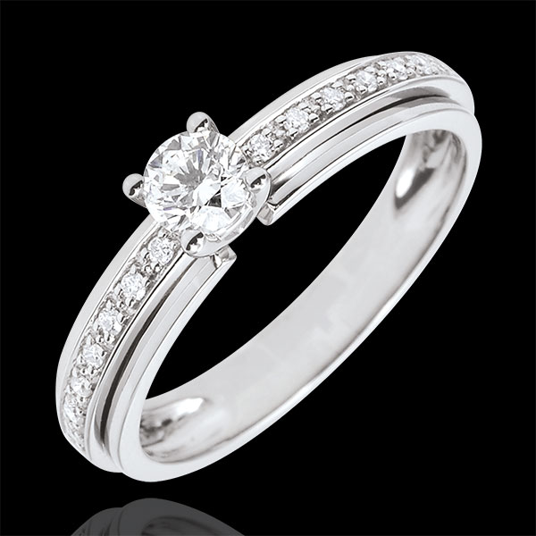Engagement Ring Solitaire Destiny - My Queen - variation - white gold - 18 carat