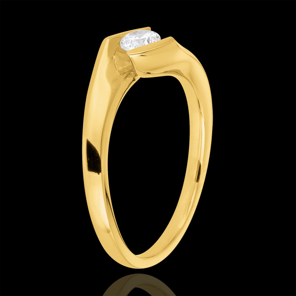 Engagement ring summer evening yellow gold - 0.22 carat
