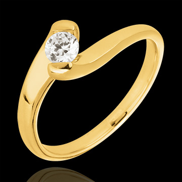 Engagement ring summer evening yellow gold - 0.24 carat