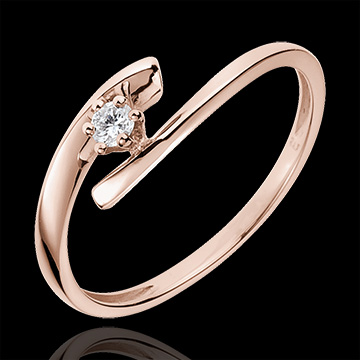 Solitaire Precious Nest - Orion - pink gold - 18 carats