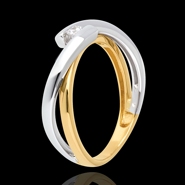 1fab32736da Solitaire Precious Nest - Mecano - yellow gold and white gold - 0.07 carat  - 18 carats   Edenly jewelery