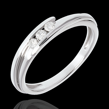 61df99ae998 Trilogy Precious Nest - Fusion - white gold - 0.16 carat - 3 diamonds -  0.11 carat - 18 carats   Edenly jewelery