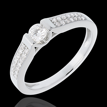 Engagement Ring Destiny - Arch - diamond 0.31 carat - white gold - 18 carats