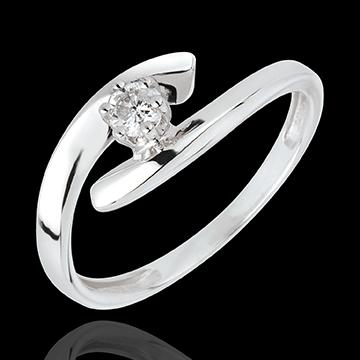 ca8a34a2038 Solitaire Precious Nest - Orion - white gold - 18 carats   Edenly jewelery