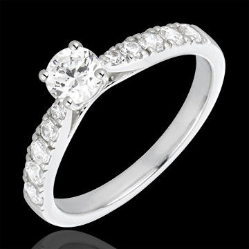 White Gold and Diamond Hermione Ring