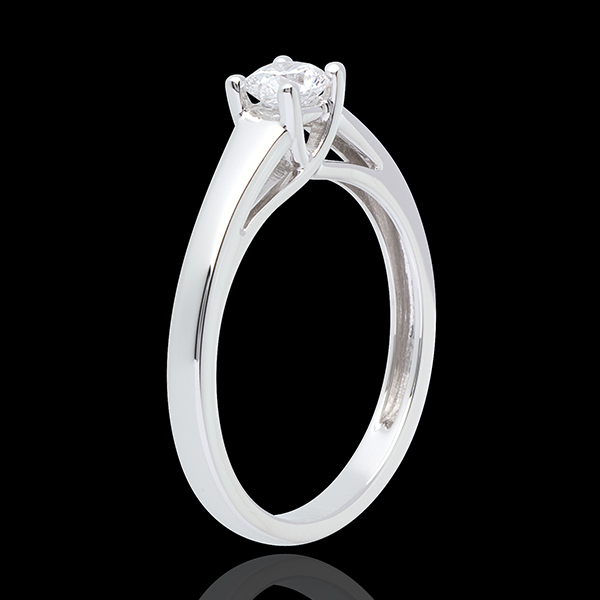 L'essentiel d'un solitaire blanc - 0.34 carats - or blanc 18 carats