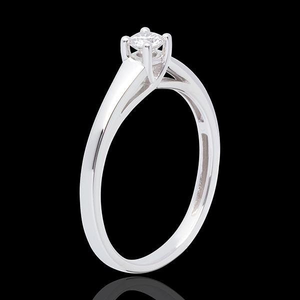 L'essentiel d'un solitaire or blanc 18 carats - 0.19 carat