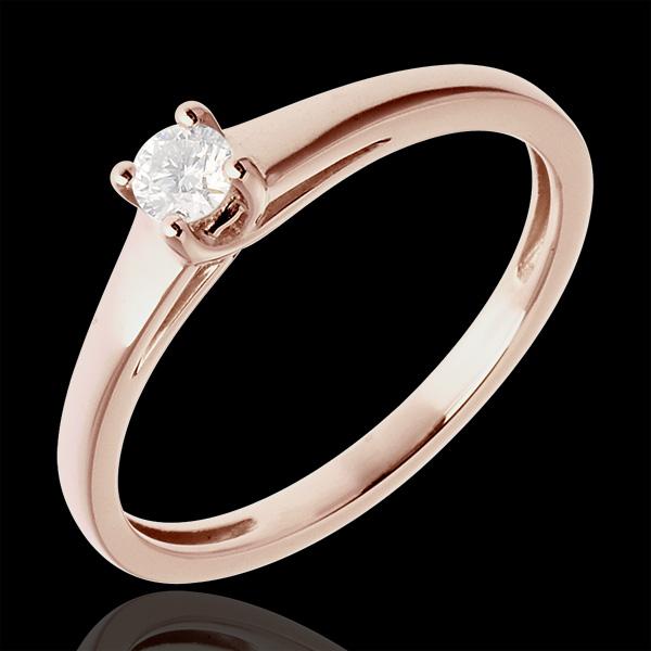 L'essentiel d'un solitaire or rose 18 carats - 0.125 carat