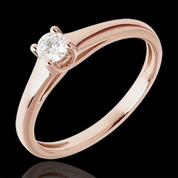 L'essentiel d'un solitaire or rose 18 carats - 0.185 carat