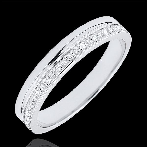 Fede Eleganza oro bianco e Diamanti