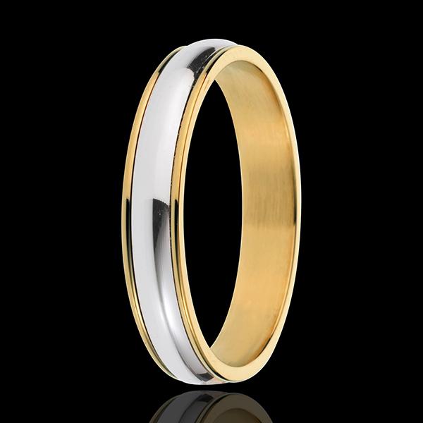 Fede nuziale Henri - Oro bianco e Oro giallo - 18 carati