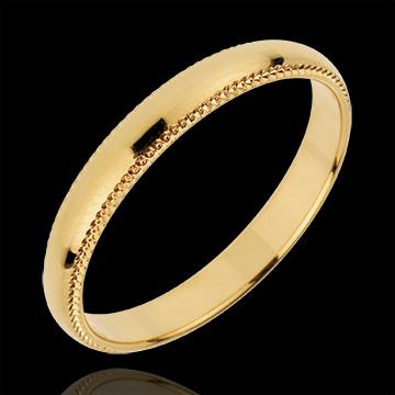 Fede nuziale - Imperatore - Oro giallo - 18 carati