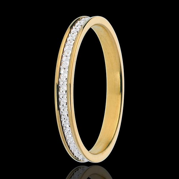 Fede nuziale - Pandora - Oro bianco e Oro giallo - 18 carati
