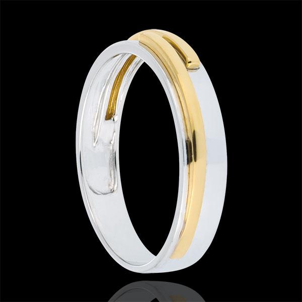Fede nuziale Titano - Oro bianco e Oro giallo - 9 carati