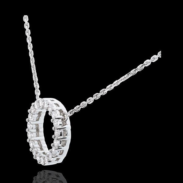 Firmament necklace white gold - 0.75 carat - 19 diamonds