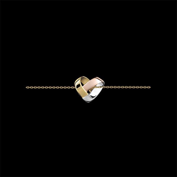 Folding Heart Bracelet - 3 golds