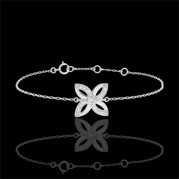 Freshness Bracelet - Lilies of summer - white gold