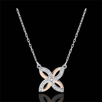 Freshness Necklace - Summer Lilies - white gold, rose gold