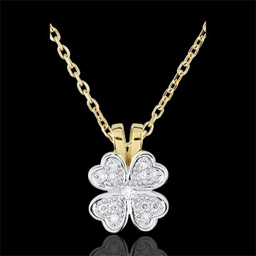 Freshness Pendant - Tender clover - diamonds